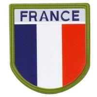 Ecusson France plastifié sur velcro