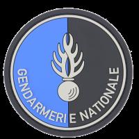 Ecusson rond Gendarmerie Nationale PVC