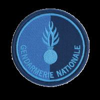 Ecusson rond Gendarmerie Nationale bleu