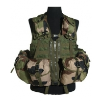 Gilet tactical modulable camo CE