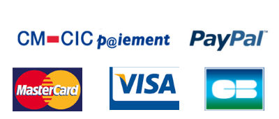 Paiement sécurisé Credit Mutuel et PayPal