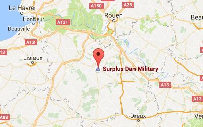 Plan d'accès à Dan Military, Saint Colombe la Commanderie